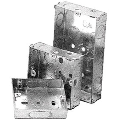 Picture of 2 GANG 25mm DEEP METAL BOX
