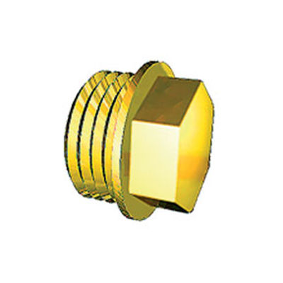 """Picture of 3/8"""" BRASS FLANGE PLUG"""