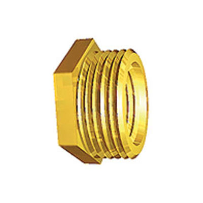 """Picture of 1/2"""" X 1/4"""" BRASS HEX BUSH"""