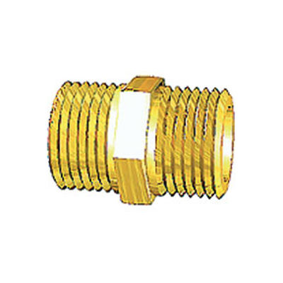"""Picture of 3/4"""" BRASS HEX NIPPLE"""