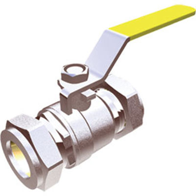 Picture of 22mm YELLOW LEVER BALLVALVE