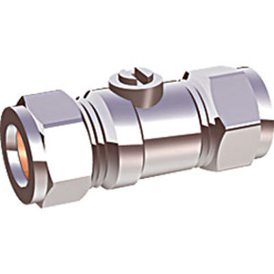 Picture of 15m CHROME LARGE BORE ISO VALVE
