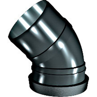 Picture of 110mm RING SEAL SOIL 45 S/S BEND BLACK