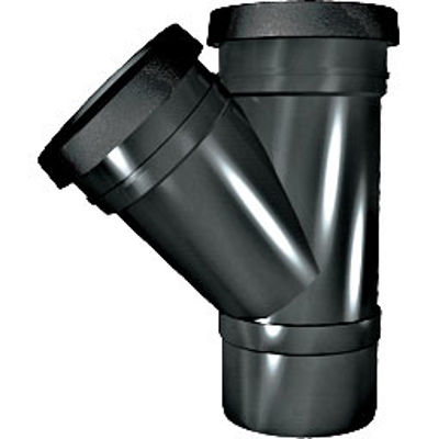 Picture of 110mm RING SEAL SOIL 45 D/S BRANCH BLACK