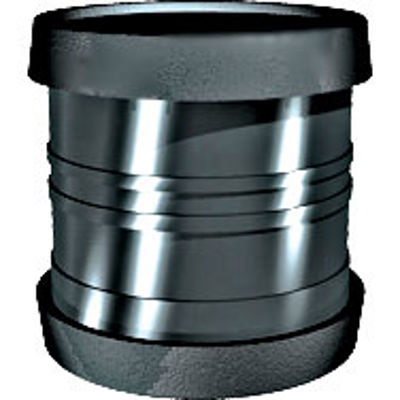 Picture of 110mm RING SEAL SOIL D/S COUPLER BLACK