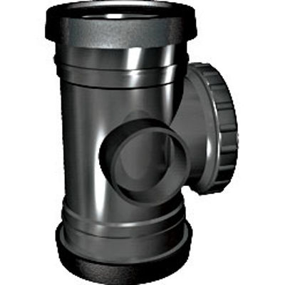 Picture of 110mm RING SEAL SOIL D/S DOOR PIPE CONN BLACK