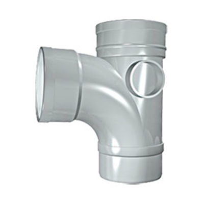Picture of 110mm SOLVENT SOIL 92 D/S BRANCH OLIVE GREY