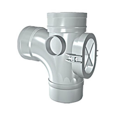 Picture of 110mm SOLVENT SOIL 92 D/S BRANCH + ACCESS OLIVE GREY