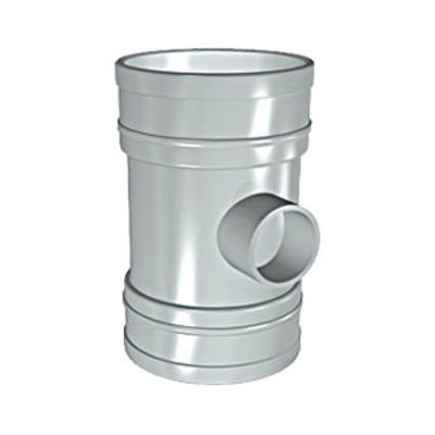 Picture of 110mm SOLVENT SOIL D/S 40mm BOSS PIPE OLIVE GREY