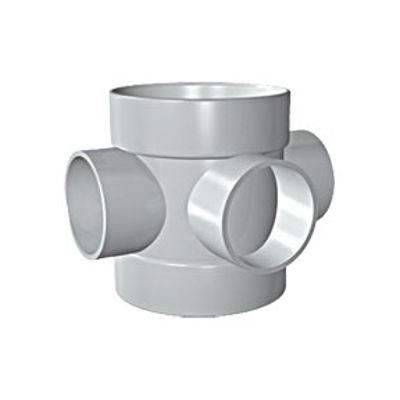 Picture of 110mm SOLVENT SOIL D/S SHORT BOSS PIPE OLIVE GREY