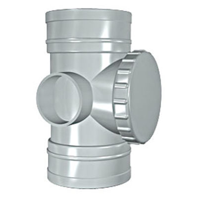 Picture of 110mm SOLVENT SOIL D/S ACCESS PIPE OLIVE GREY
