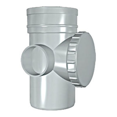 Picture of 110mm SOLVENT SOIL ACCESS PIPE OLIVE GREY