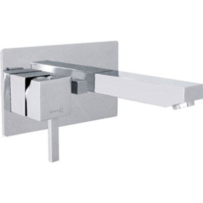 """Picture of CHROME """"CUBIX""""  CONCEALED WALL MOUNT BATH FILLER - DO NOT REORDER"""