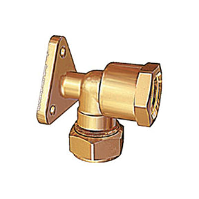 """Picture of 15mm x 1/2"""" WALLPLATE ELBOW CM"""