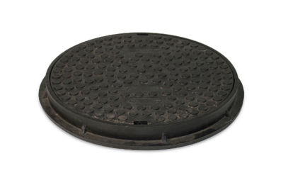 Picture of ROUND 300mm SEALED PLASTIC SCREW DOWN COVER & FRAME (35kN)