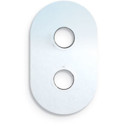 Picture of CURVED CORNERS CHROME COVER PLATE TWO HOLE