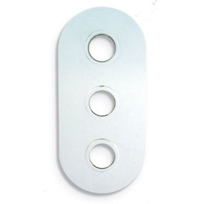 Picture of CURVED CORNER CHROME COVER PLATE THREE HOLE