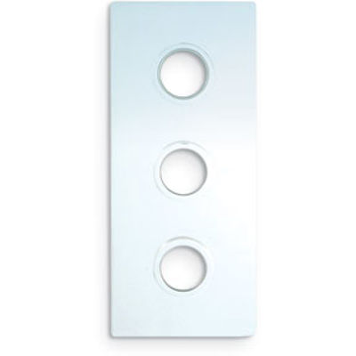Picture of RECTANGULAR CHROME COVER PLATE THREE HOLE