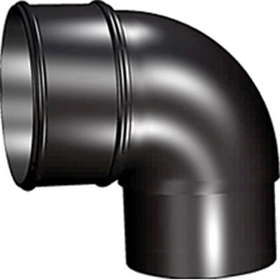 Picture of 68mm ROUND 90 DEG BEND BLACK