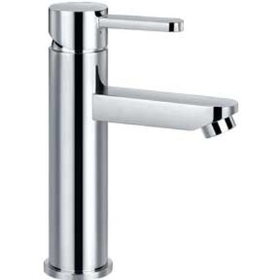 Picture of STEEL BASIN MIXER TAP 210MM HIGH (NO POP-UP)