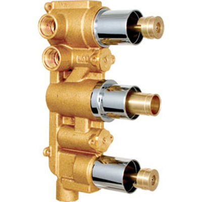 Picture of CONCEALED TRIPLE THERMOSTATIC SHOWER MIXER VALVE BODY ONLY