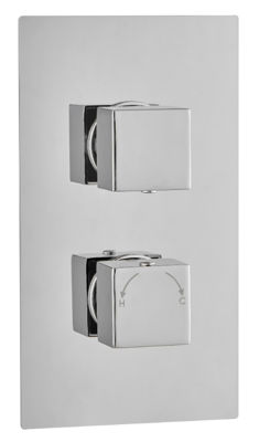 Picture of SQUARE CONCEALED DUAL THERMOSTATIC SHOWER MIXER DOUBLE OUTLET