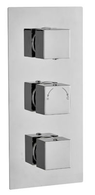 Picture of SQUARE CONCEALED DUAL THERMOSTATIC SHOWER MIXER TRIPLE OUTLET