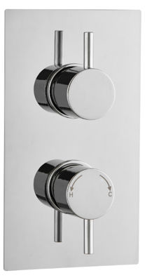 Picture of ROUND CONCEALED DUAL THERMOSTATIC SHOWER MIXER SINGLE OUTLET