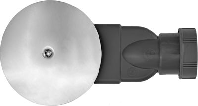 Picture of SLIM SHOWER TRAP - 43/50mm OUTLET & 25mm WATERLESS SEAL - CHROME PLATED DOME