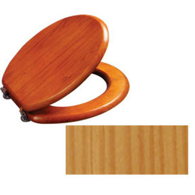 Picture of TOILET SEAT WOOD NATURAL PINE