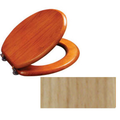 Picture of TOILET SEAT WOOD NATURAL ASH