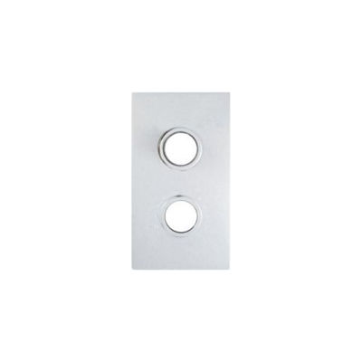 Picture of RECTANGULAR CHROME COVER PLATE FOR TOR2D TWO HOLE