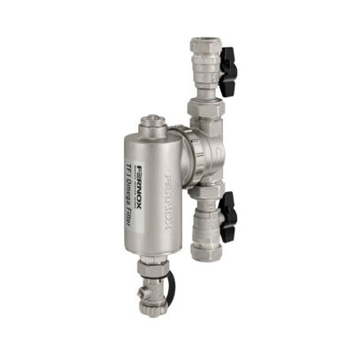 Picture of FERNOX OMEGA FILTER 28mm WITH VALVES