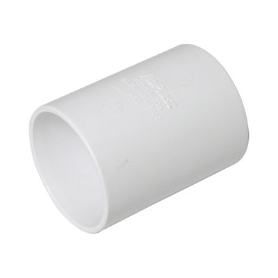 Picture of 40mm WHITE ABS STR.COUPLING