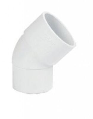 Picture of UPVC SOLVWELD 45 SPIGOT BEND BRIGHT WHITE 32MM