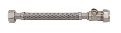 Picture of SHORT 15CM FLEXIBLE TAP CONNECTOR 15mm ISO