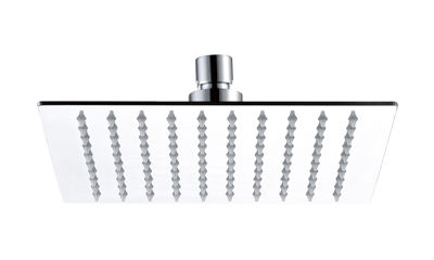 """Picture of SLIM CHROME ON S/STEEL 8"""" SQUARE RAIN SHOWER"""